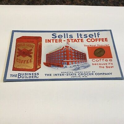 Inter-State Coffee Joplin, Missouri Advertising Ink Blotter
