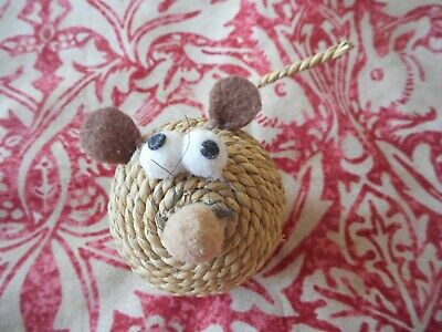 Pets At Home Willow Wicker Roll Ball Mouse Cat Toy BRAND NEW