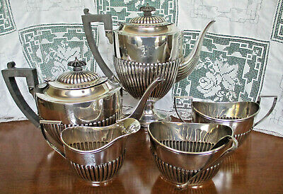 Magnificent Estate  Early Birks Sterling Silver Federal Style Six Piece Tea Set