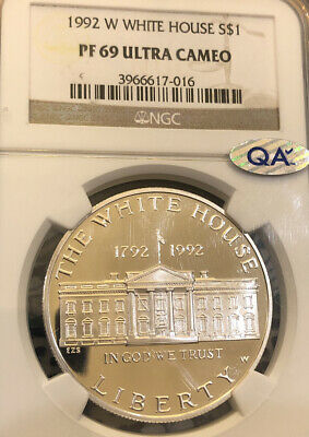 1992-W White House $1 NGC PF 69 Ultra Cameo Modern Commemorative Silver Dollar