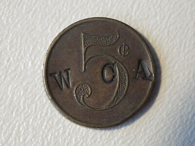 Old Germany Medal Token ? - W C A Counterstamped