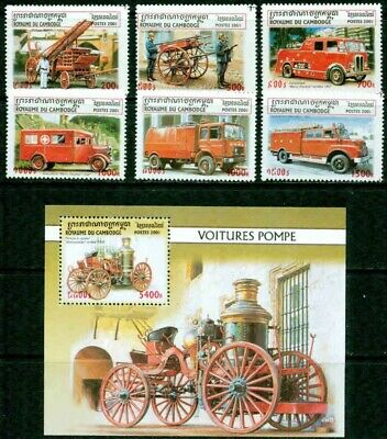 Cambodia -2001 – Fire Engines – Vf**