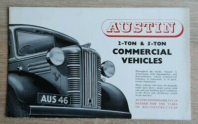 Austin 2 Ton & 5 Ton Commercial Vehicles - 1946