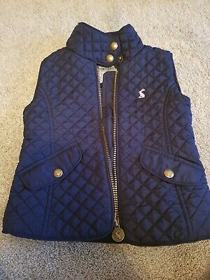 Girls Joules Gilet Age 3 Years Body Warmer In Navy