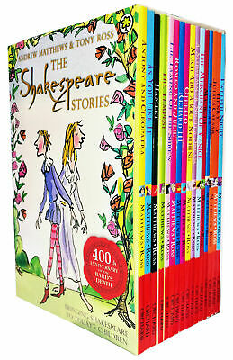 The Shakespeare Children's Stories Andrew Matthews & Tony Ross Includes 16 Books