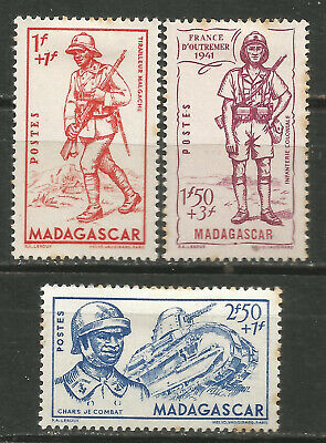 Madagascar Scott #B8-10 MH Army 1941
