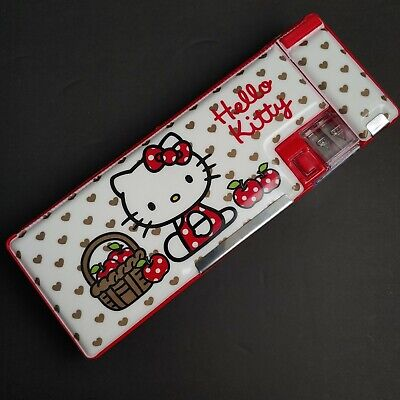 Hello Kitty Sanrio School Pencil Case Pencil Sharpener Holder Magnetic Art Box
