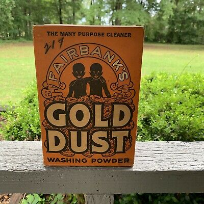 Vtg Unopened 2Lb Gold Dust Twins Washing Powder Laundry Soap Black American