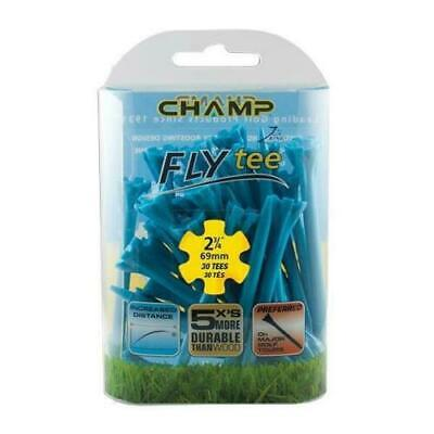 """Champ Zarma Fly Golf Tees Blue 2 3/4"""" Pack of 30"""