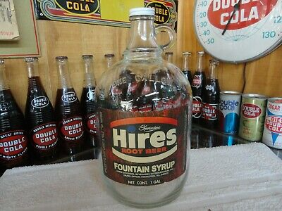 Hires Root Beer Soda Fountain Syrup Paper Label  Clear  Gallon Jug