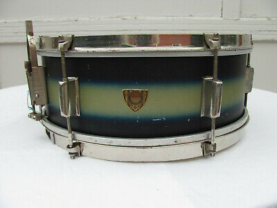 Vintage Revere (by Kent) 1950's 14 x 5.5 Silver/Blue Duco Snare Drum