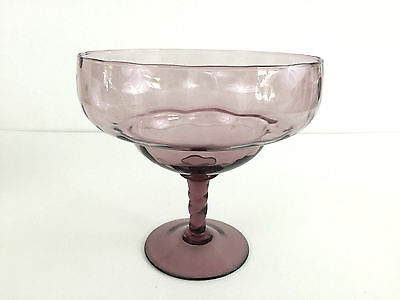 ALTAGLASS amethyst / purple glass compote 1960's