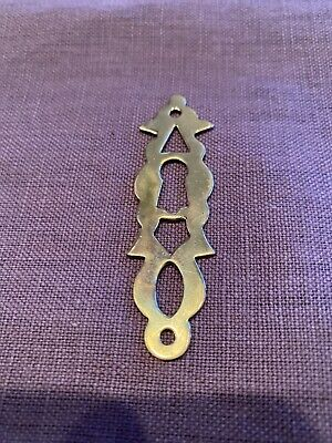 Vintage Lock Escutcheon Solid Brass Key Hole Cover Furniture Drawer Hardware