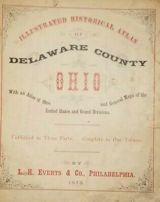 1875 MAPS OF OHIO COUNTIES published by L. H. EVERTS & CO.......... 188B
