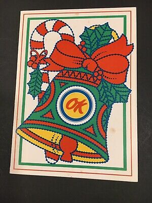 OK Used Cars Chevrolet Vintage Christmas Card 1960's