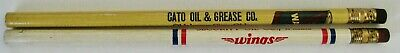 Lot of 2 Vintage Oil Pencils - Wanda Oil Cato Oklahoma - Wings Security Wichita