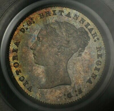 1883 Pcgs Ms65 Great Britain Maundy Fourpence 4 Four Pence Ogh Toned