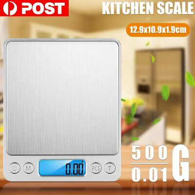 0.01-500g Kitchen Food Scale LCD Digital Electronic Balance Weight Postal Scales