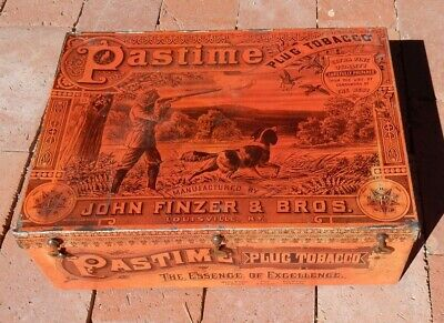 c.1890s Pastime TOBACCO TIN John Finzer LOUISVILLE Kentucky NICE Condition