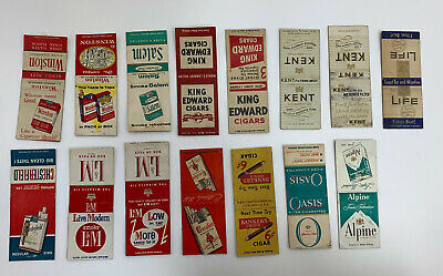 Lot of 15 Vintage Smoking Cigarette Cigar Tobacco Matchbook Covers Chesterfield+