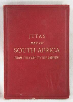 Juta's Map of South Africa from the Cape to the Zambesi 1894 w/ Cover