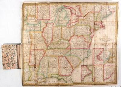 MITCHELL'S TRAVELLER'S GUIDE THROUGH THE UNITED STATES 1839 Map of U.S.