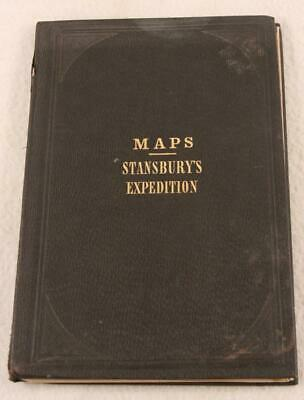 Stansbury's Expedition Maps Of Salt Lake and Fort Leavenworth Area 1850 Ex. Cond