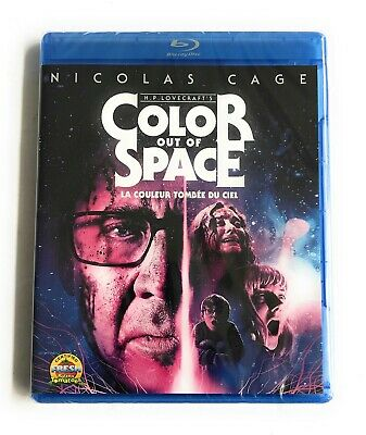 Color Out Of Space Blu-Ray Nicholas Cage  No Slipcover New Sealed