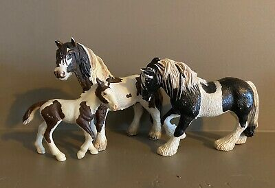 Schleich Clydesdale stallion, mare and foal figurines- retired