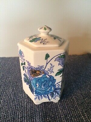 Masons Ironstone Pottery / China Tea Caddy - Belvedere