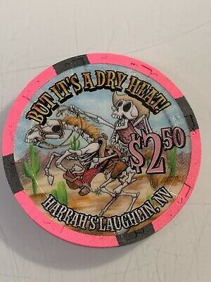 HARRAHS $2.50 Casino Chip Laughlin Nevada 3.99 Shipping