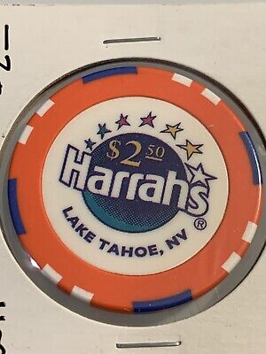 HARRAHS $2.50 Casino Chips Lake Tahoe Nevada 3.99 Shipping