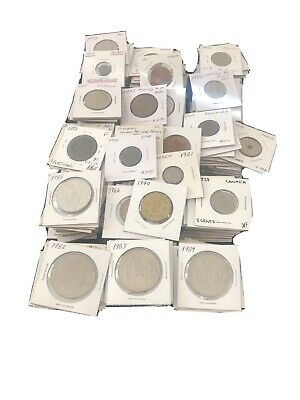 Over 300 2x2 carded Flip Foreign World Coin Mix wth BU Monaco and BU Vatican