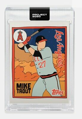 PRESALE Topps Project 2020 #63 Mike Trout Los Angeles Angels - Fucci