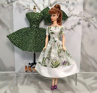 Mixed Lot Beaufitul Handmade Dresses & Jacket + Shoes & Gloves For Barbie Doll
