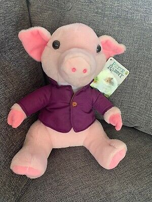 Peter Rabbit Pig Robinson Plush Soft Toy Whitehouse The Movie 2018 New Defects