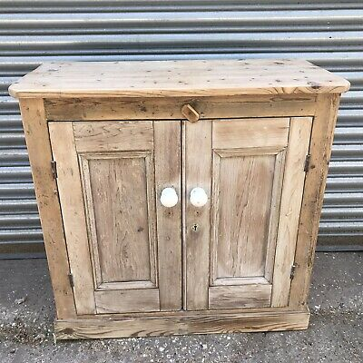 20th Century Stripped Pine Side Cupboard