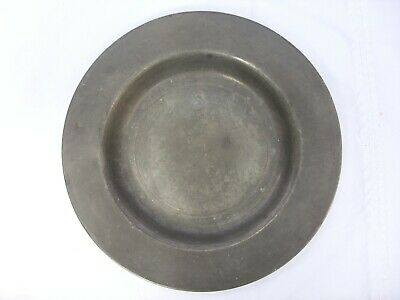 GEORGIAN PEWTER SIDE PLATE LONDON TOUCH MARKS ANTIQUE 18th CENTURY
