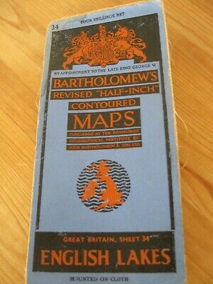 Vintage Bartholomews English Lakes Half Inch Maps