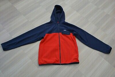 NEW Patagonia Red Fleece Micro D Fleece Zip Up Hooded Jacket- XL Age 14 Years