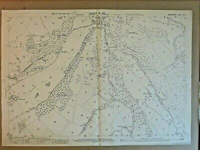 Old Antique Ordnance Map 1913 Denbighshire XII.4 Plasisaf & Llansannan ...