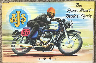 Original Rare Ajs The Race Bred Motorcycle 1961 Sales Pamphlet Vgc