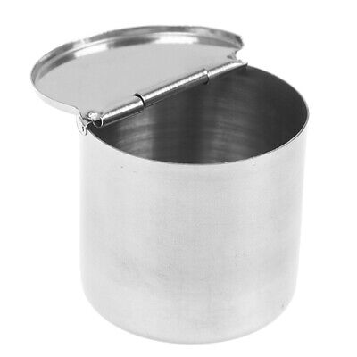 5*5cm Stainless Steel Dental Cotton Tank Alcohol Disinfection Jar Half Clamsh F4