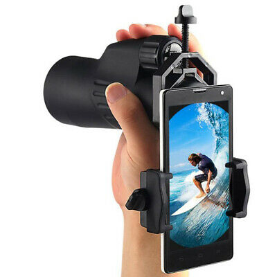 1 PC Universal Cell Phone Adapter Mount Telescope Mobile Phone Clip Bracket   F4