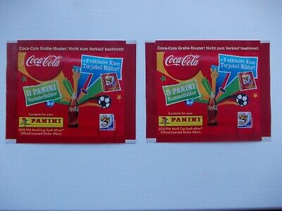 football stickers 2 unopened panini COCA-COLA 2010 World Cup