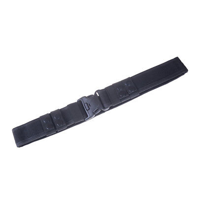 Black Heavy Duty Security Guard Police Utility Nylon Belt Waistband Supplies F4