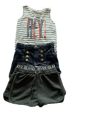 River Island Girls Top And Shorts Age 9-10