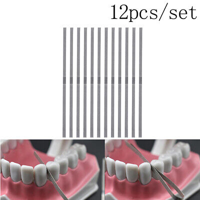 12pcs 4mm Dental Metal Polishing Stick Strip Single Surface Whtening Material F4