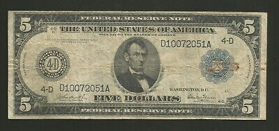 FR 857 Five Dollars Series of 1914 Federal Reserve Note Cleveland Ohio