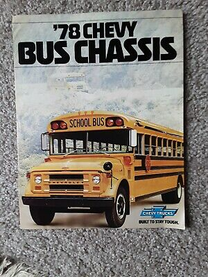1978 Chevrolet Bus Chassis Sales Brochure